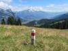 Blick von Alp Mädens   auf Gonzen und Chapfensee