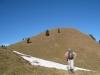 Brigitte beim Aufstieg zum Chli Aubrig
