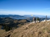 Sicht vom Chli Aubrig hinunter auf den Sihlsee