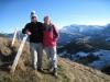 Hanspeter und Brigitte auf dem Chli Aubrig 1617m