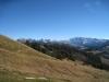 ein Blick zurück zu den Wägitaler Bergen