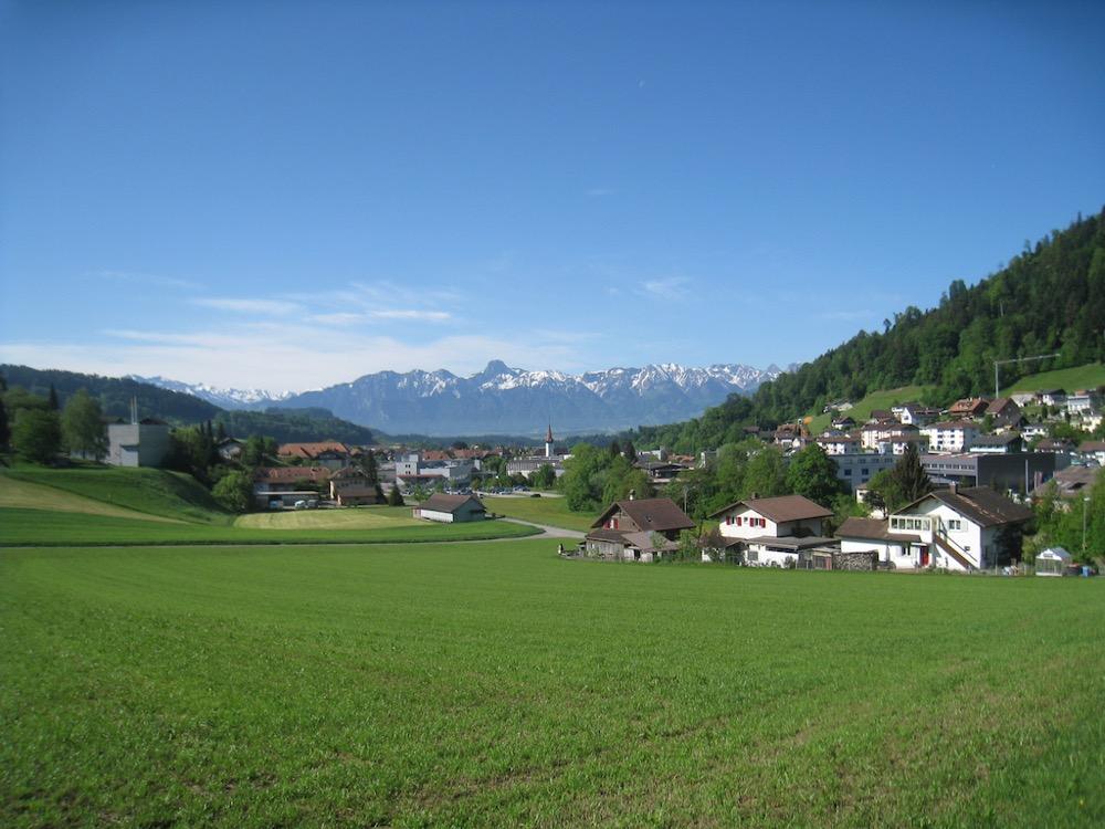 Blick auf Oberdiessbach