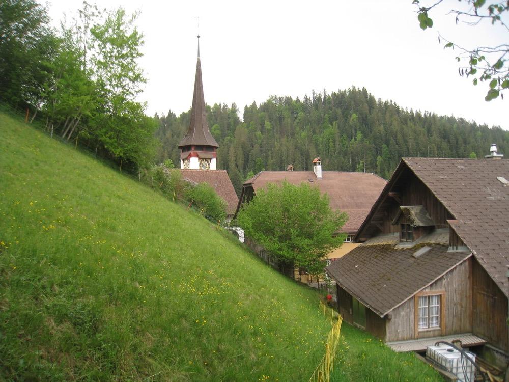 die Kirche von Röthenbach