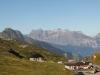 Blick auf die Klausenpasshöhe: Brunnistock,  Urirotstock, Gitschen