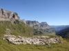 Schrattenkalk;   Läckistock 2486m,  Rot Nossen 2502m, Signalstock 2572m,  Jegerstöcke 2584m, Schjien 2610m, Ortsstock 2717m