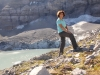 Marianne am Gletschersee