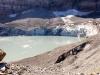 der Claridengletscher mit Gletschersee; der Gletscher kalbt