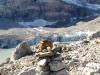 Clariden;  der Claridengletscher mit Gletschersee 2100m