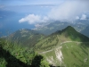Sicht vom Rochers de Naye auf Caux und Vevey
