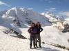 Marianne und Bruni auf der Diavolezza  2978m: Piz Palü und Bella Vista