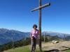 Marianne  auf dem Gipfel des Schönberg 2103m