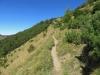 auf dem Rückweg;  ein Pfad im steilen Abhang  T3