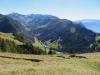Blick ins Valünatal; Naafkopf 2570m, Schwarzhorn 2574m, Vorder Grauspitz 2599m, Samiklaus 2585m, Schmutzli 2566m, Ruchberg 2555m, Falknis 2562m, Falknishorn 2451m, Pizol