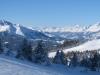 Blick in die Surselva: Signina Gruppe; , Brigelser Hörner 2362m; Bifertenstock 3419m Tödi 3614m