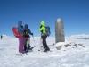 kalt und windig ist es auf dem Dreibündenstein 2160m