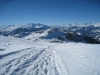 Abstieg vom Dreibündenstein 2152m nach Term Bel   1954m; mi Tgom Aulta