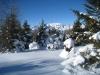 Winterlandschaft:  Morchopf 2943m, Ringelspitz 3247m, Panärahörner 3106m,Orglen 2720m