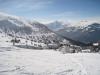Sicht gegen Piz Beverin 2998m, Bruschghorn 3056m und Heinzenberg