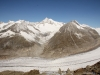 Grosses Fusshorn 3626m, Rotstock 3701m, Geisshorn 3740m,  Sattelhorn 3724m, Aletschhorn 4195m, Mittelaletschgletscher,  Olmenhorn 3314m, Dreieckhorn 3811m, Jungfrau 4158m, Sphinx 3569m