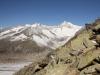 Unterbächhorn 3554m, Nesthorn 3822m, 13 Fusshörner, Grosses Fusshorn 3626m, Rotstock 3701m, Geisshorn 3740m,  Sattelhorn 3724m, Aletschhorn 4195m, Mittelaletschgletscher