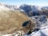 Sicht auf den Vordersee; 2360und Tälligrat; Finsteraarhorn 4274m, Studerhorn 3638m, Oberaarhorn 3637m, Oberaarrothorn 3477m, Wasenhorn 3447m, Vorder Galmihorn 3571m