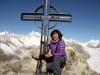 Marianne auf dem Gipfel des Eggishorns 2926m