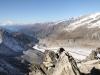 Blick vom Gipfel des Eggishorns 2926m; hi:  Matterhorn 4478m, Weisshorn 4505m,  Gand Combin 4314m, Mont Blanc 4808m; vo Aletschbord