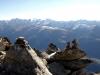 Blick vom Gipfel des Eggishorns 2926m ins  Goms