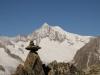 auf dem Rückweg vom Gipfel des Eggishorns;  Aletschhorn  4195m