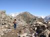auf dem Rückweg vom Gipfel des Eggishorns; Blick zurück auf den Gipfel
