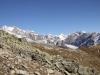 auf dem Weg zum Tälligrat; Gross Wannenhorn 3906m, Klein Wannenhorn 3707m, Finsteraarhorn 4274m, Studerhorn 3638m, Finsteraar -Rothorn 3530m, Oberaarrothorn 3477m, Oberaar-Rothorn 3477m, Wasenhorn 3447m, Vorder Galmihorn 3571m
