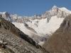 Geisshorn 3740m,  Sattelhorn 3724m, Aletschhorn 4195m, Mittelaletschgletscher