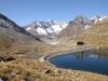 Vordersee: Zenbächenhorn 3386m, Geisshorn 3740m,  Sattelhorn 3724m, Olmenhorn 3314m,Dreieckhorn 3811m, Jungfrau 4158m