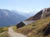 Blick auf: Fletschhorn 3996m,  Rimpfischhorn 4199m, Alphubel 4206m, Mischabelgruppe 4000m