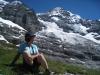 Marianne vor vor dem Eigergletscher