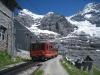 Station Eigergletscher mit Eigr Westwand und Eigergletscher