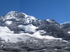 Eiger 3970m, Mönch 4099m, Jungfrau 4158m, Silberhorn