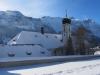 die Klosterkirche Engelberg; Graustock 2661m, Schwarzhorn 2639m, Pkt. 2655m, Rotsandnollen 2700m, Hanghorn 2679m, Huetstock 2676m