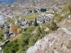 Blick auf die Rhone und Leuk Stadt und Varen