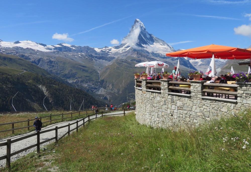 auf Sunegga 2288m  und Matterhorn 4478m