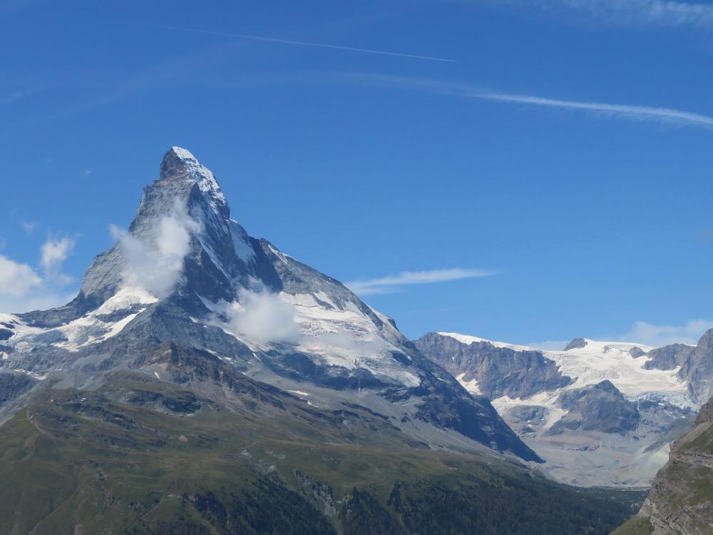 Matterhorn 4478m, Wandfluehornb 3589m, Wandflue 3714m