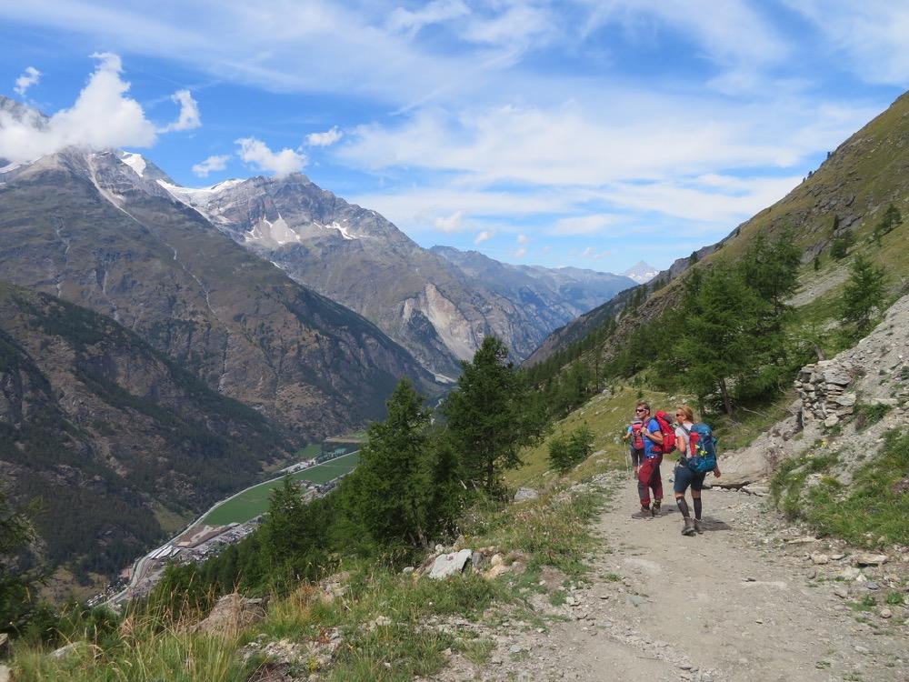auf dem Europaweg; Bishorn 4158m, Brunegghorn 3853m, Bietschhorn