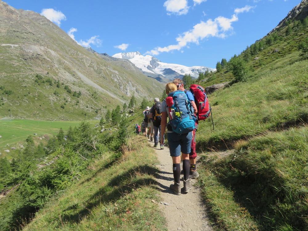 auf dem Weg zur Täschalp; Rimpfischhorn 4199m