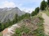 Biker auf dem Europaweg; Mettelhorn  3406m, Weisshorn 4505m