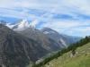 Mettelhorn 3406m, Schalihorn 3975m, Weisshorn 4505m, Bishorn; 4153m, Brunegghorn 3853m
