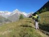 unterwegs auf dem Europaweg; Schalihorn 3975m, Weisshorn 4505m, Bishorn 4153m, Brunegghorn 3853m