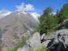 Schalihorn 3975m, Schaljoch 3749m, Schaligrat 4054m,  darunter Schaligeltscher,  Weisshorn 4505m, Bisgletscher,  Bishorn 4153m