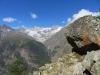 unterwegs auf dem Europaweg; li vo Mettlenhorn;  Wellenkuppe 3903m, Zinalrothorn 4221m, Hohlichtgletscher, Pointe Sud de Moming 3963m, Poinrte Nord de Momimg 3862m,  Schalihorn 3975m