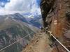 unterwegs auf dem Europaweg;  Weisshorn 4505m, Bisgletscher,  Bishorn 4153m