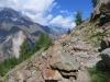 unterwegs auf dem Europaweg;  Bisgletscher,  Bishorn 4153m, Brunegghorn 3853m